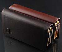 Мужское кожаное портмоне. Клатч. Барсетка. Бумажник. Кошелёк. Мужской кожаный бумажник