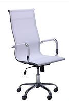 Зручне офісне комп'ютерне крісло на колесиках Slim Net HB (XH-633) білий