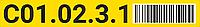 Этикетки для маркировки полочных стеллажей, макет №1
