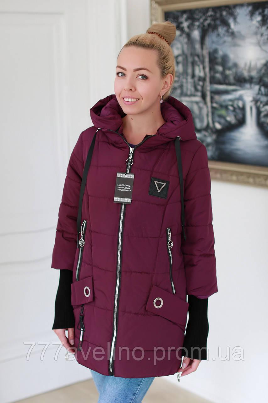 Куртка жіноча демісезонна стильна (розміри з 50 по 58)