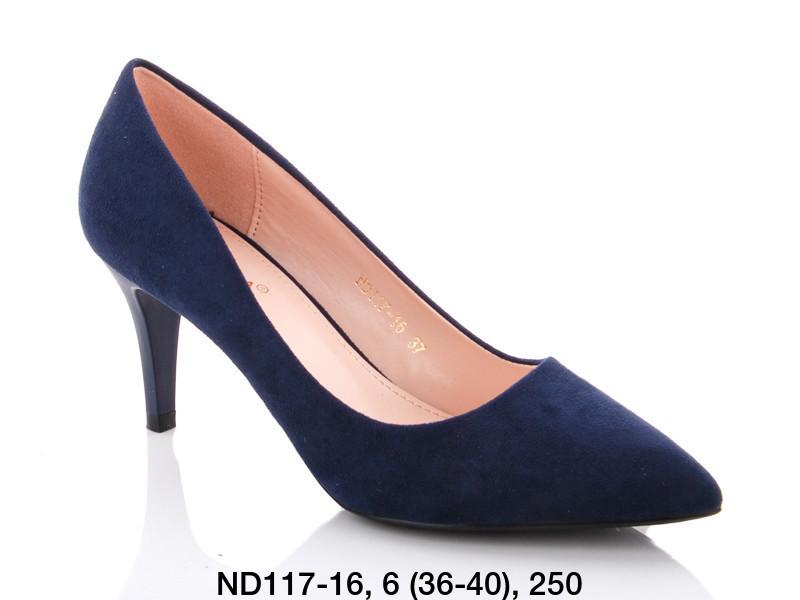 Туфли женские на каблуке синие Teetspace-Trasta-Egga-ND117-16