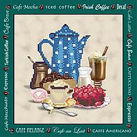 Кофе с вишневым тортиком  Схема вышивки бисером