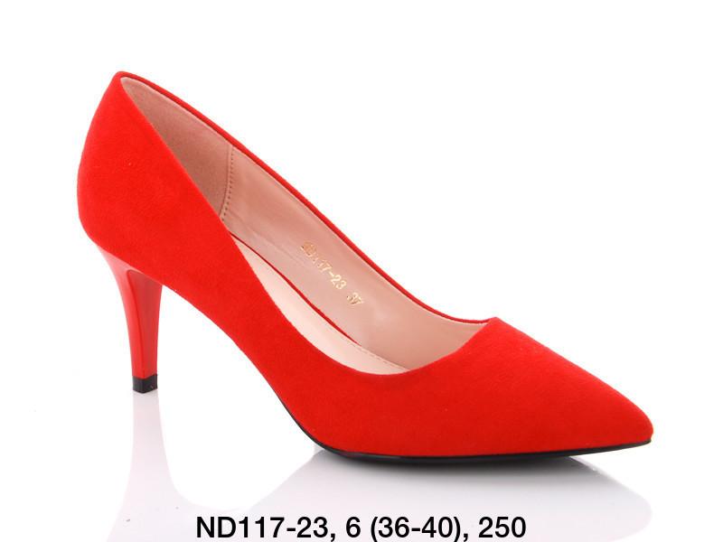 Туфли женские на каблуке красные Teetspace-Trasta-Egga-ND117-23