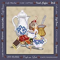Завтрак с кофе  Схема вышивки бисером