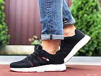 Кроссовки демисезонные мужские в стиле Adidas Neo, черно белые \ красные