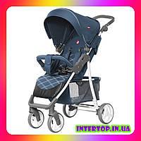Детская прогулочная коляска CARRELLO Quattro CRL-8502 сине-черный цвет. Дитячий візок