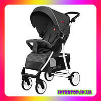 Детская прогулочная коляска CARRELLO Quattro CRL-8502 темно-серый цвет. Дитячий візок