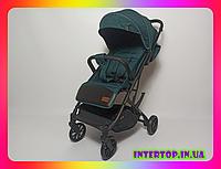 Детская прогулочная коляска CARRELLO Presto CRL-9002 Midnight Green + дождевик зеленый цвет. Дитячий візок