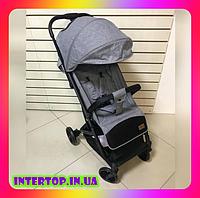 Детская прогулочная коляска CARRELLO Presto CRL-9002 Harbor Grey серый цвет. Дитячий візок