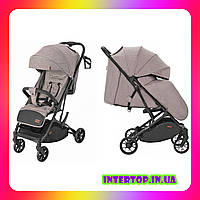 Детская прогулочная коляска CARRELLO Presto CRL-9002 Powder Beige бежевый цвет. Дитячий візок