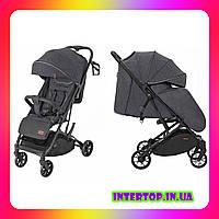 Детская прогулочная коляска CARRELLO Presto CRL-9002 Oil Grey темно-серый цвет. Дитячий візок