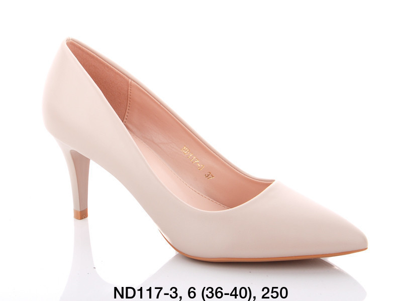 Туфли женские на каблуке бежевые Teetspace-Trasta-Egga-ND117-3