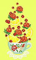 Фруктовый чай с лимоном  Схема вышивки бисером