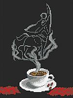 Чашка кофе. Стрелец Схема полной вышивки бисером