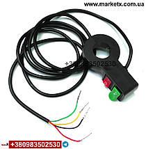Кнопка перемикач для світла фар і звукового сигналу на кермо мотоцикла, електровелосипеда, квадроцикла, 22мм, фото 3