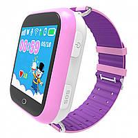 Cмарт-часы детские JETIX Q100 с виброзвонком + защитное стекло Pink (2305478)