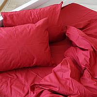 Комплект постельного белья из красного ранфорса