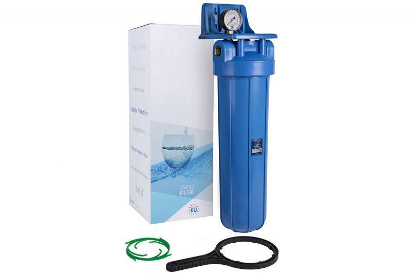 """Aquafilter Корпус фільтра Big Blue 20"""" з манометром FH20B1-B-WB"""