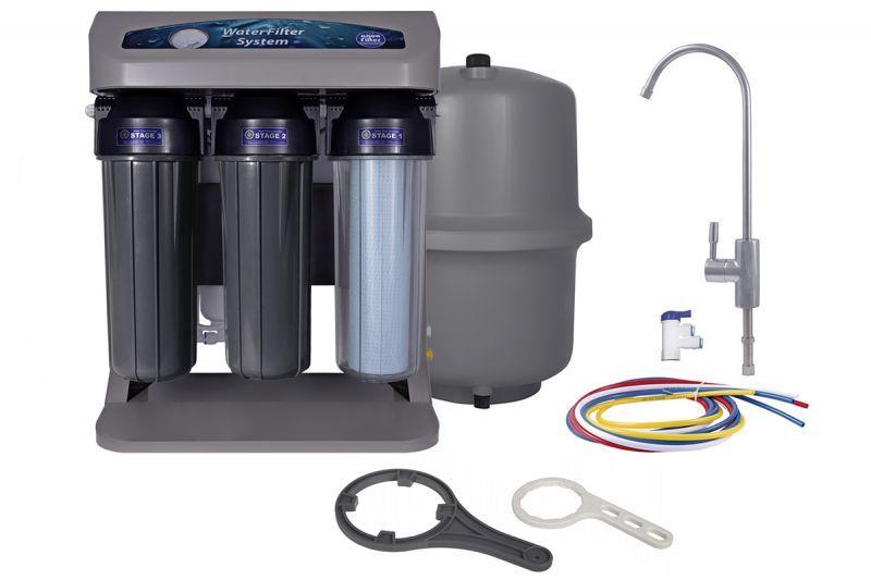 Aquafilter 7-ми ступенчатая система обратного осмоса с манометром и ионизатором AIFIR2000