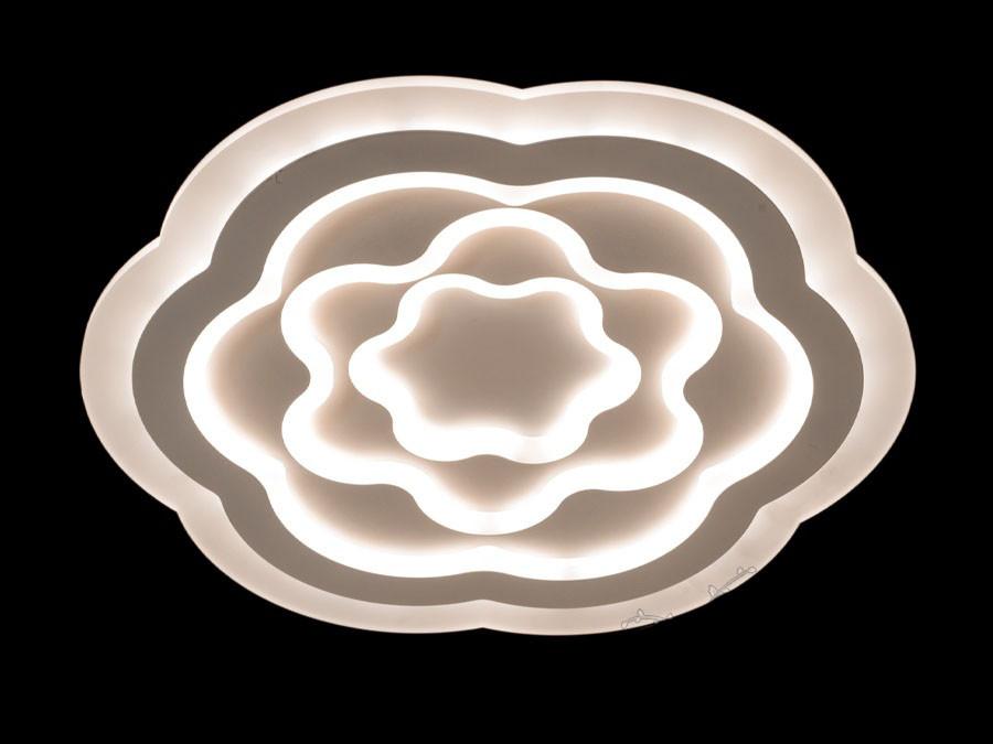 Современная потолочная LED-люстра плоская до 20 кв. 110W Diasha&MX2244-500 dimmer