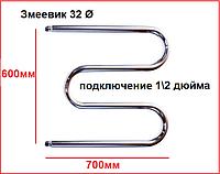 Полотенцесушитель водяной змеевик с боковым подводом 60x70, фото 1