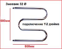 Полотенцесушитель водяной змеевик с боковым подводом 60x80, фото 1