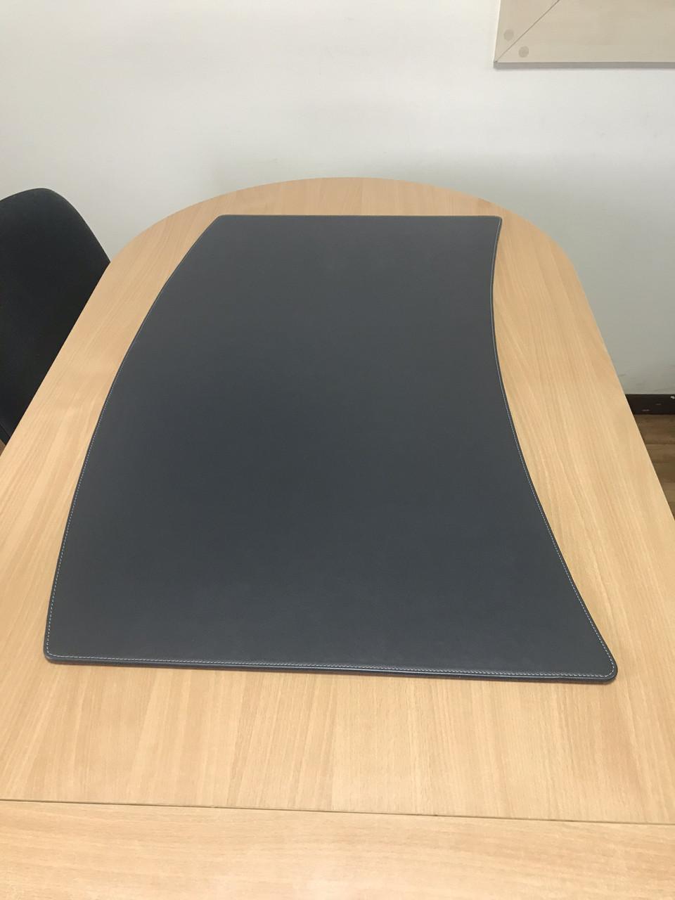 Подложка на стол Делавер Экокожа 400 х 600 мм серая