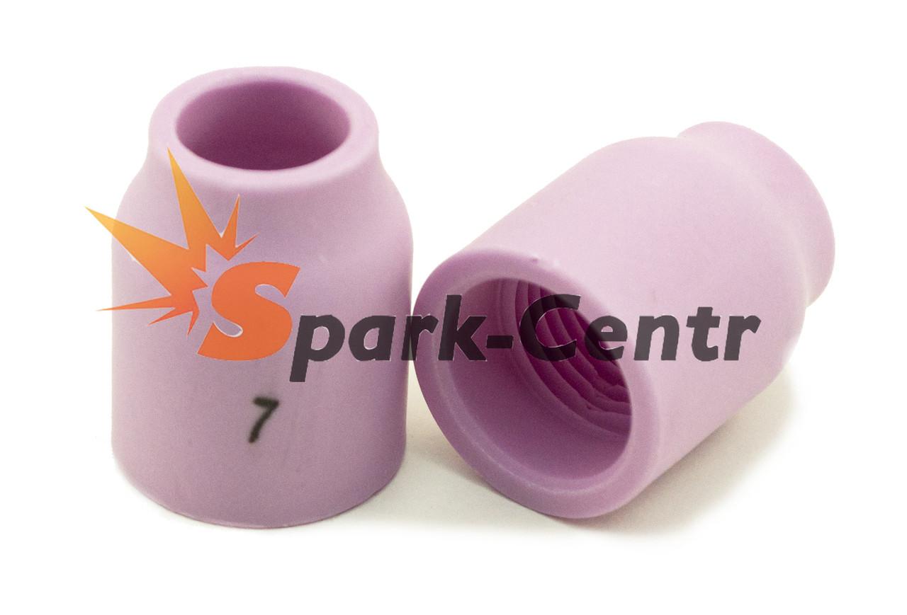 Сопло газовое №7 стандартное для газовой линзы 25,5 мм, Ø11,0 мм серия 53N для горелки WP-9