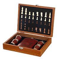 Набор подарочный Lefard шахматы+фляга Охотник 250 мл 18138-003, фото 1