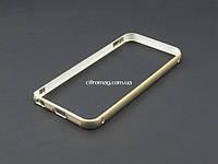 Бампер метал для Apple iPhone SE 5 5S золотистый