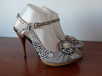 Женские туфли весенние летние на каблуке (код 1524) - туфлі жіночі весняні літні на каблуках