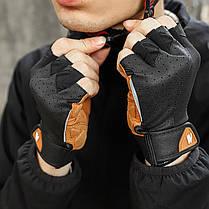 Рукавички для велосипеда West Biking 0211196 S Brown без пальців, фото 2