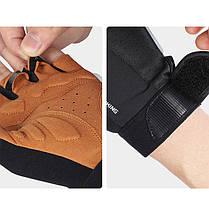 Перчатки для велосипеда West Biking 0211196 M Brown без пальцев, фото 2
