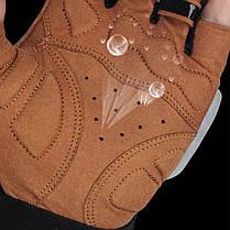 Перчатки для велосипеда West Biking 0211196 M Brown без пальцев, фото 3