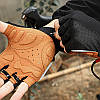 Перчатки для велосипеда West Biking 0211196 M Brown без пальцев, фото 6