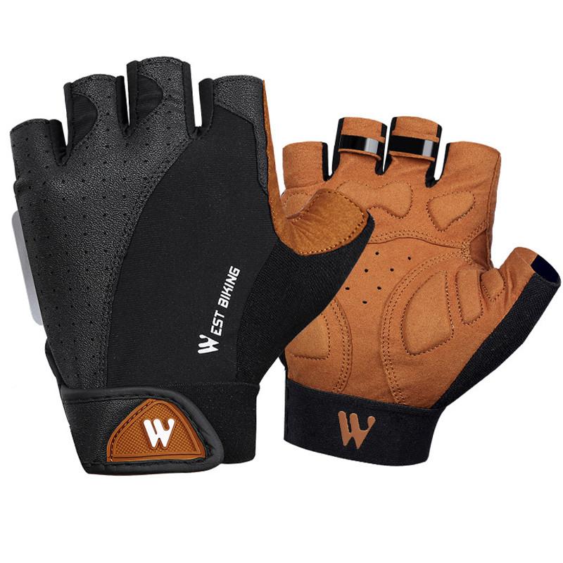 Перчатки для велосипеда West Biking 0211196 L Brown без пальцев
