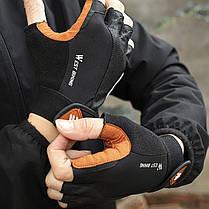 Перчатки для велосипеда West Biking 0211196 L Brown без пальцев, фото 3