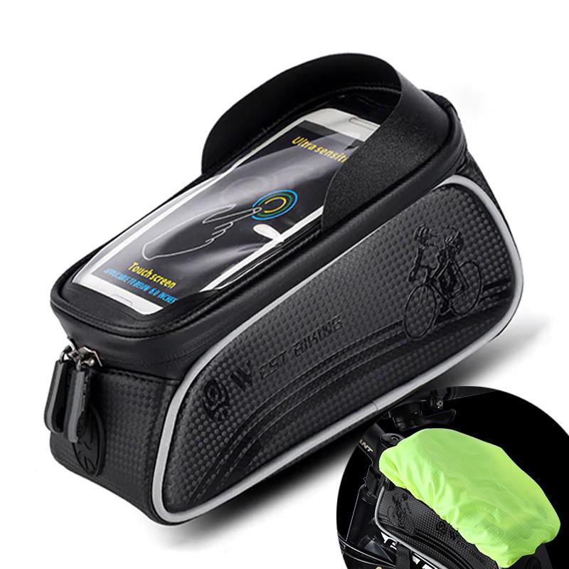 """Велосумка на раму West Biking 0707205 Black для смартфона 6"""" бардачок для инструмента"""