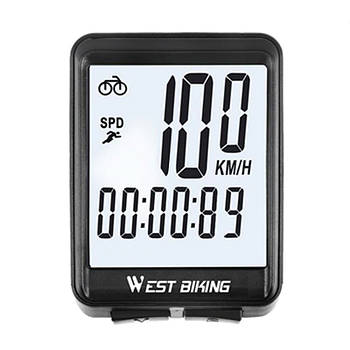 Велокомпьютер West Biking 0702054 с подсветкой беспроводной спидометр