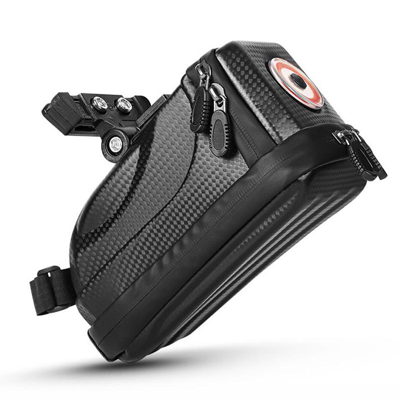 Велосумка со встроенным фонарем West Biking 0707231 Black объем 1,5L