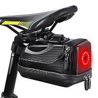 Велосумка со встроенным фонарем West Biking 0707231 Black объем 1,5L, фото 2