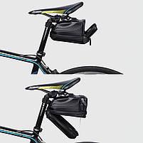 Велосумка со встроенным фонарем West Biking 0707231 Black объем 1,5L, фото 4