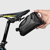 Велосумка со встроенным фонарем West Biking 0707231 Black объем 1,5L, фото 5