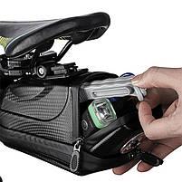 Велосумка со встроенным фонарем West Biking 0707231 Black объем 1,5L, фото 6
