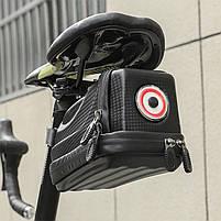 Велосумка со встроенным фонарем West Biking 0707231 Black объем 1,5L, фото 7