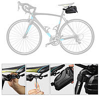 Велосумка со встроенным фонарем West Biking 0707231 Black объем 1,5L, фото 8