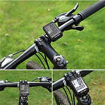 Велокомпьютер беспроводной West Biking 0702054 экран с подсветкой спидометр часы, фото 2