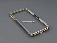 Бампер метал для Apple iPhone SE 5 5S черный