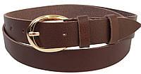 Женский кожаный ремень Skipper коричневый 2,5 см, фото 1