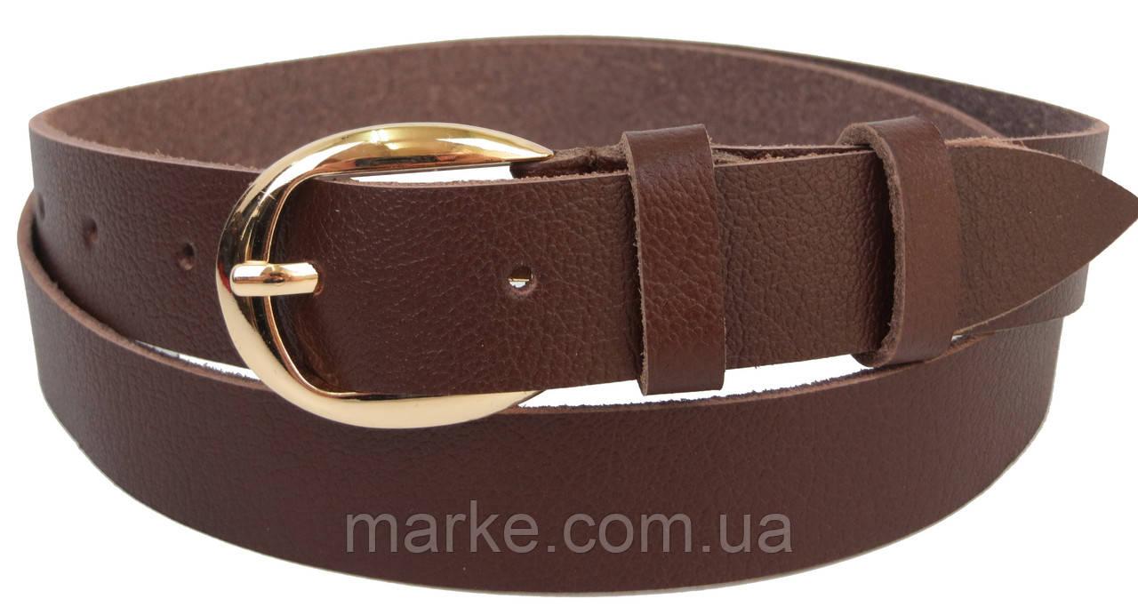Женский кожаный ремень Skipper коричневый 2,5 см